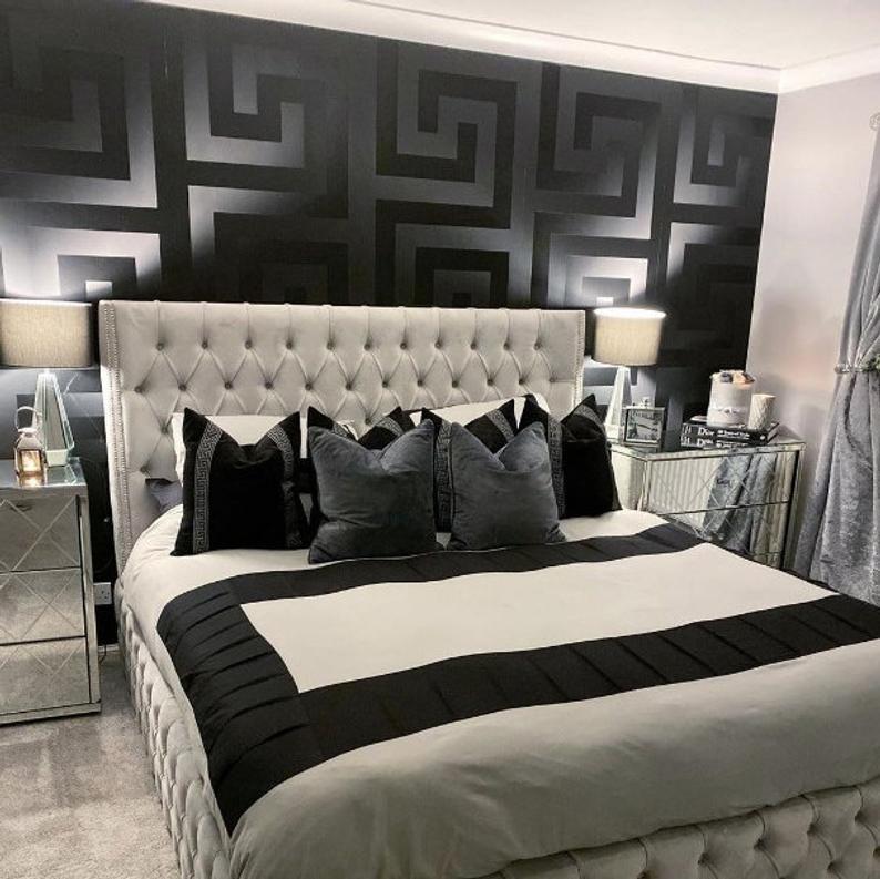 Pin On Black Wallpaper Bedroom