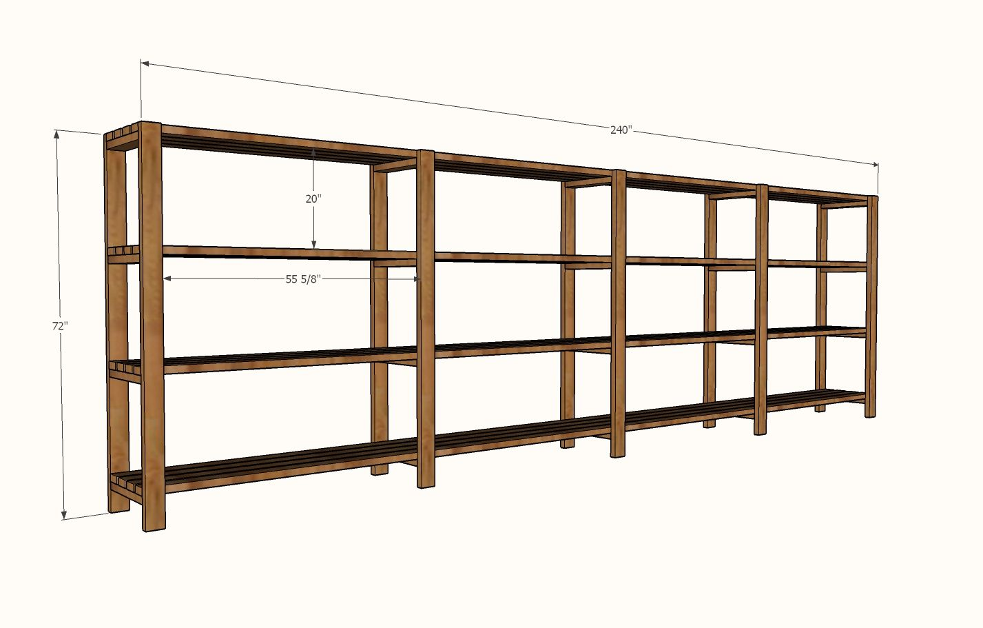 Ana White Build A Easy Economical Garage Shelving From