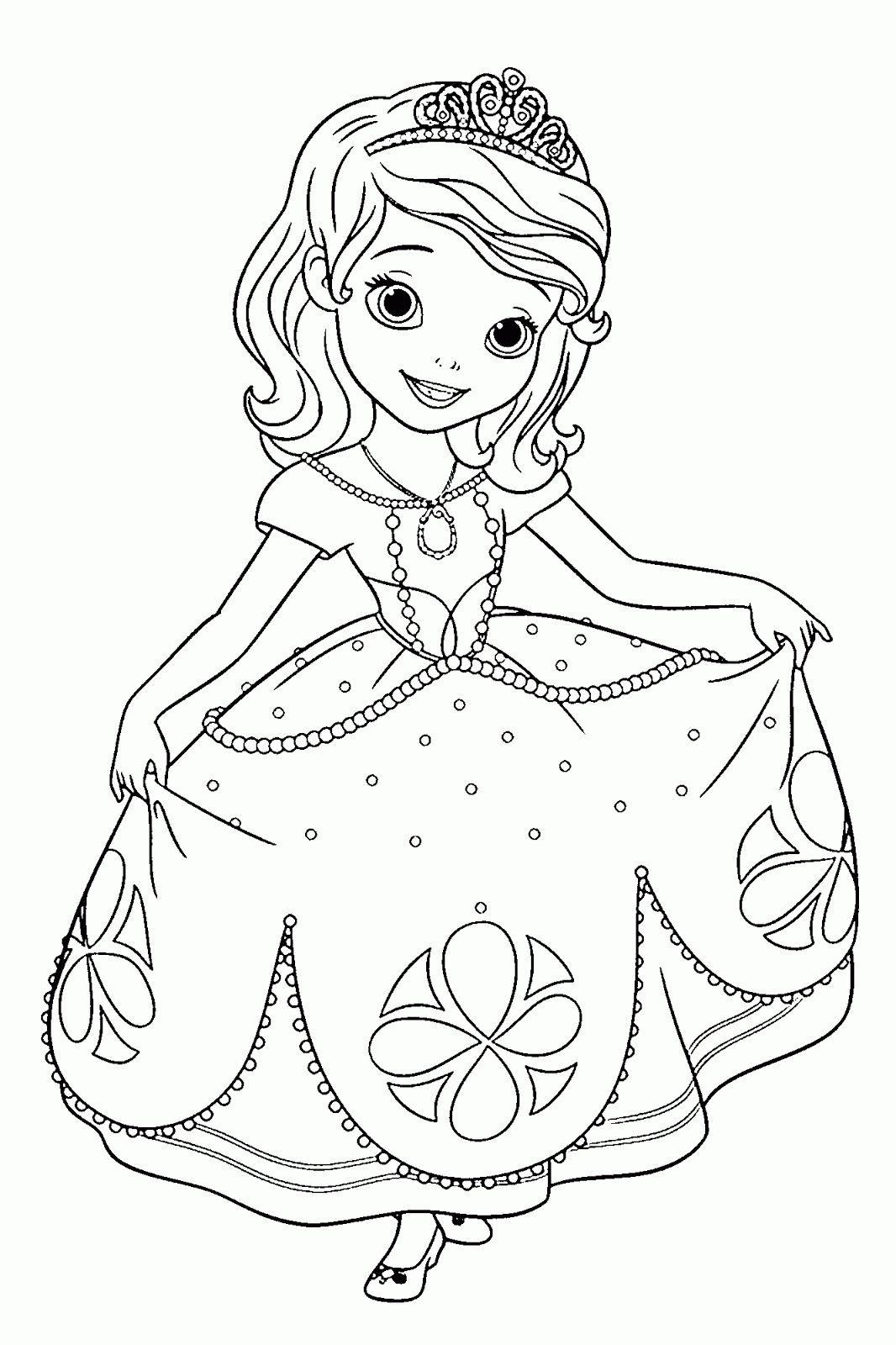 Dibujos de La Princesa Sofia para colorear, dibujos disney | Para
