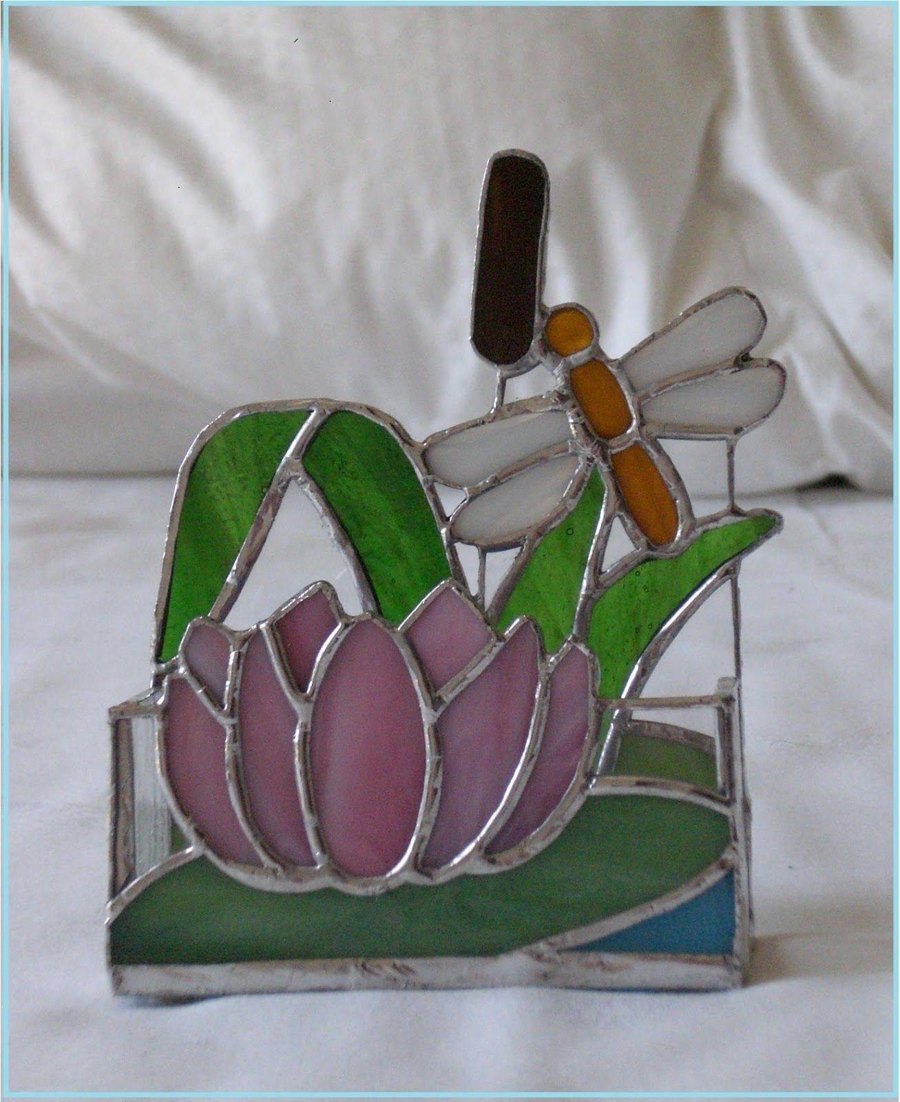 Stained glass business cards holder by http://belleepoquevetrate ...