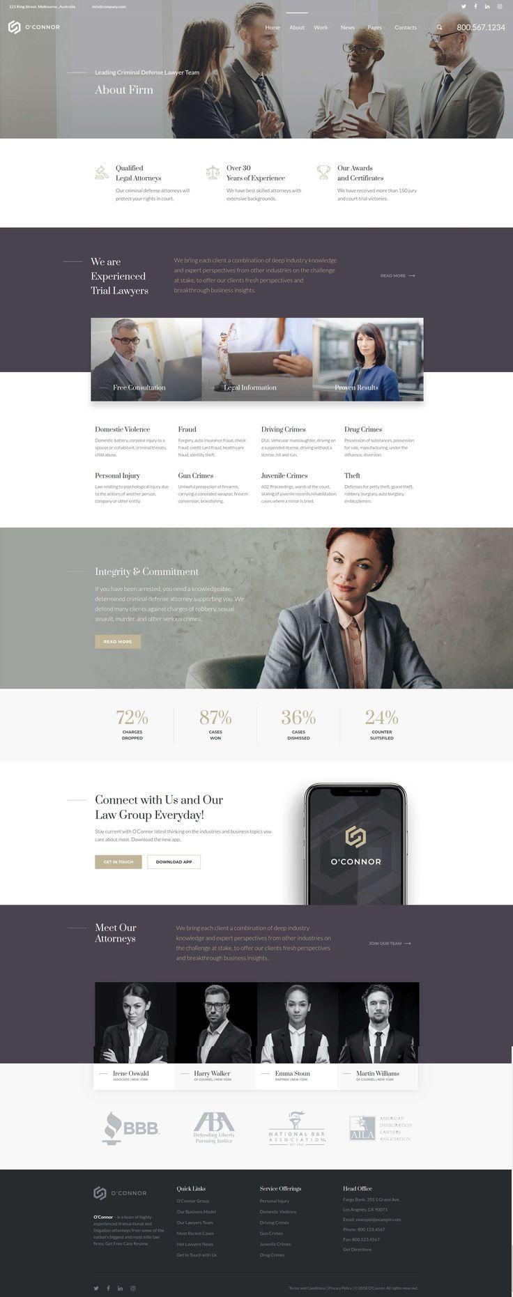 Oconnor Legal Professionals Attorneys And Legislation Agency Wordpress Theme Attorneys Firm L Law Firm Website Design Law Firm Website Law Firm Branding