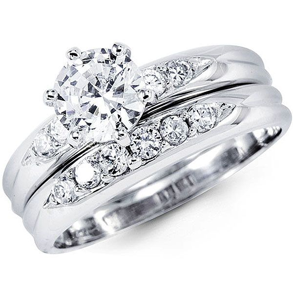 great lovely and elegant in appearance this womens diamond bridal ring setting handcrafted in k white - Bridal Wedding Ring Sets