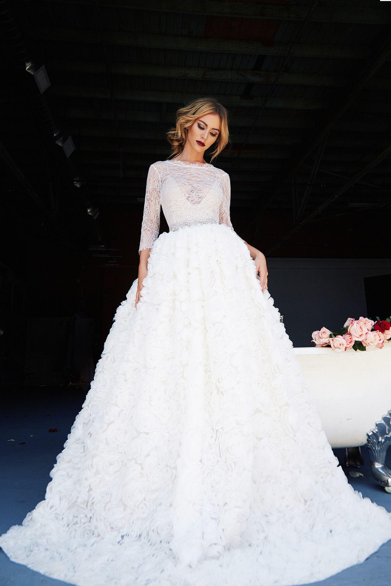 Conservative wedding dresses  VICTORIA GOWN  Vestidos de noivas casamentos  Pinterest  Gowns
