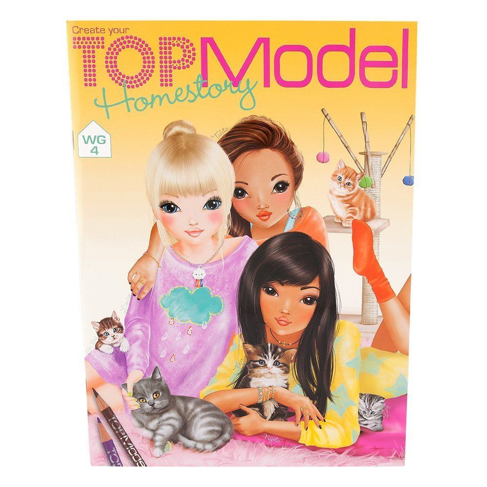 Libro Top Model Depesche 7887 Topmodel Homestory Malbuch 24 Seiten Amazon De