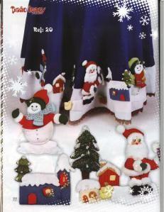 Manteles de navidad en fieltro pie de arbol y caminos de - Manteles para navidad ...