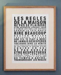 Les r gles de la maison home ideas home home decor et sweet home - Cadre les regles de la maison ...