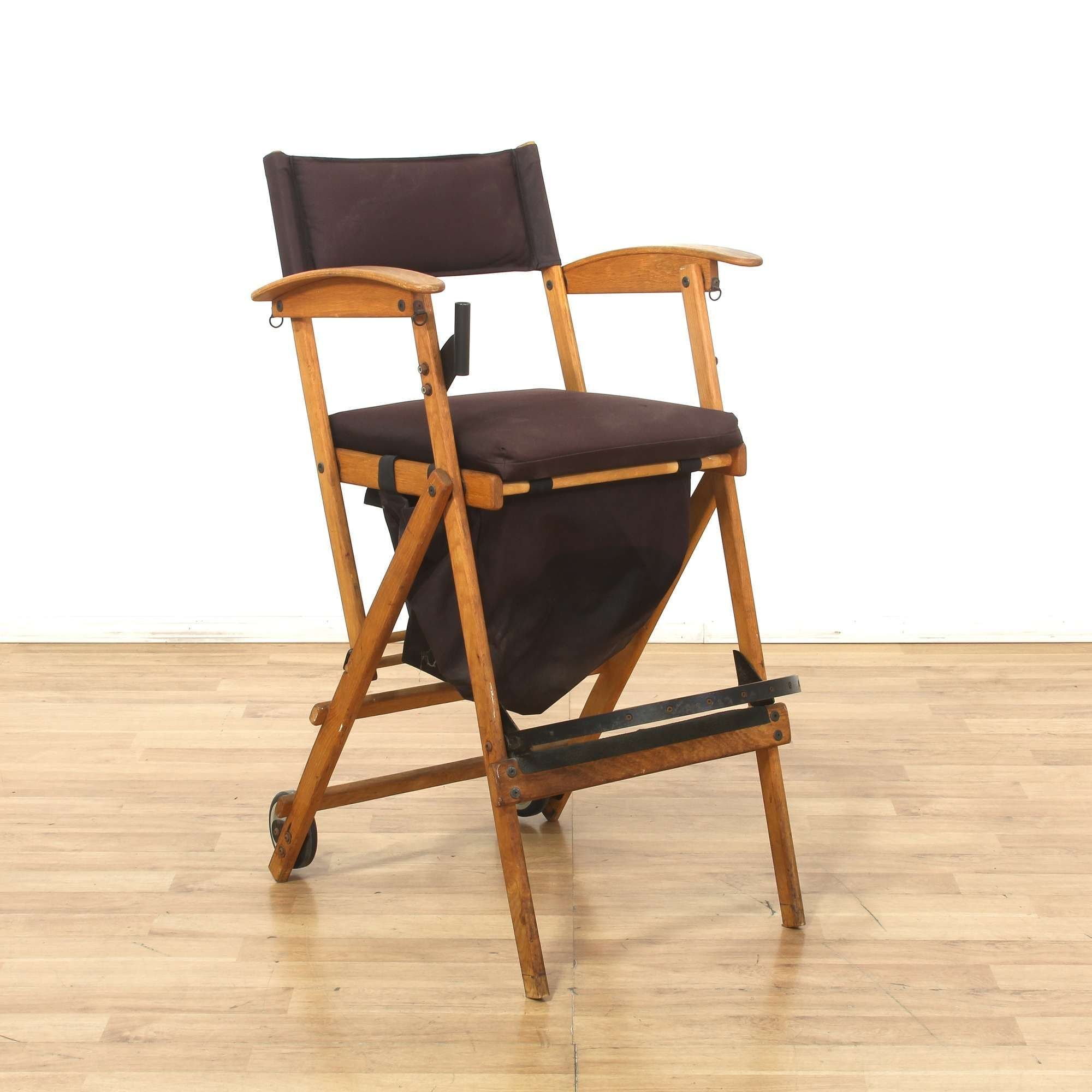 Hollywood Chairs Directors Chair W Back Wheels Loveseat Vintage Furniture Los Angeles