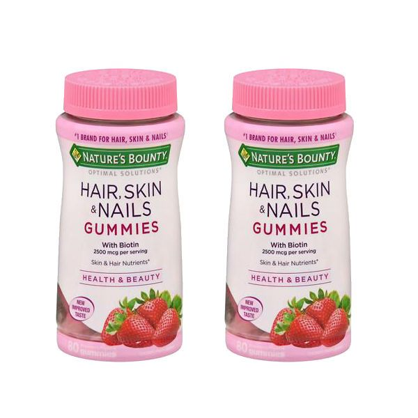 En Walgreens puedes conseguir las Nature's Bounty Hair, Skin and Nails Gummies 80 ct a $9.49 regularmente. Pero esta semana están en oferta ..