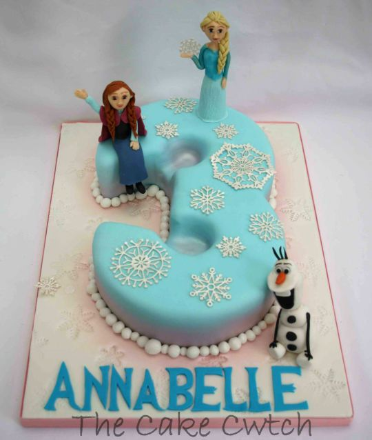 NUMBER 3 frozen cakes Frozen Number 3 Cake by The Cake Cwtch