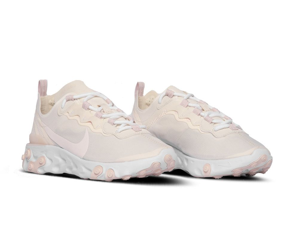 Nike React Element 55 Pale Ivory Light Soft Pink White