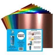 Craftables Metallic Vinyl Starter Pack 10 12 X 12 Sheets Adhesive Vinyl Sheets Adhesive Vinyl Vinyl Sheets