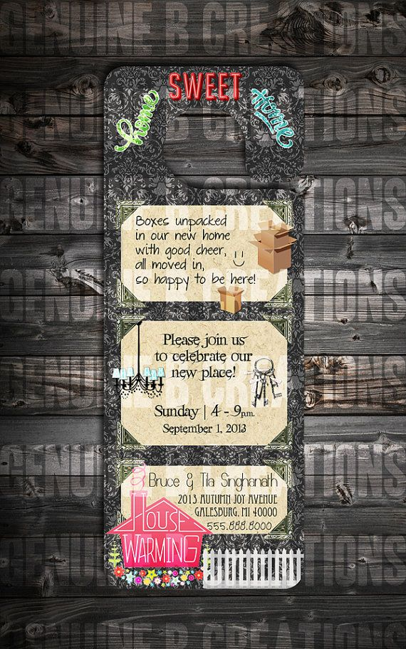 House Warming/Open House Party Invitation by GenuineBCreations ...
