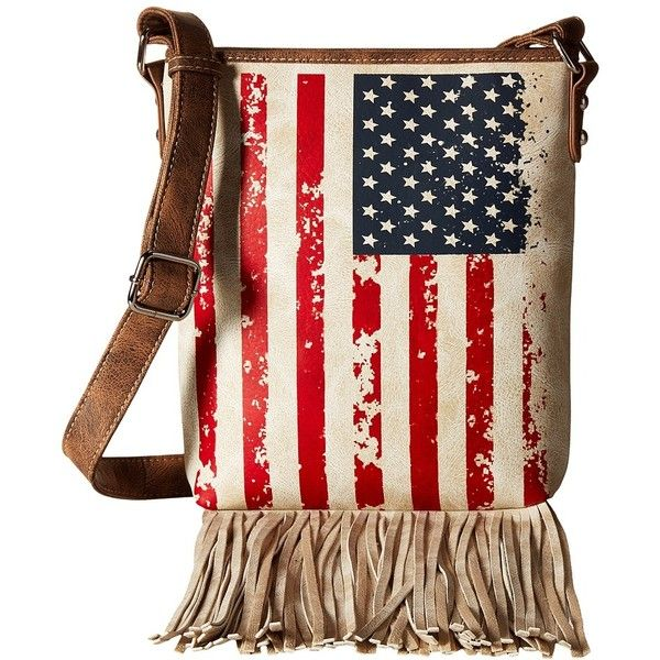 M&F Western Americana Messenger Bag (Multi) Messenger Bags (2.860 RUB) ❤ liked on Polyvore featuring bags, messenger bags, cell phone bag, western bags, m&f western and fringe bags