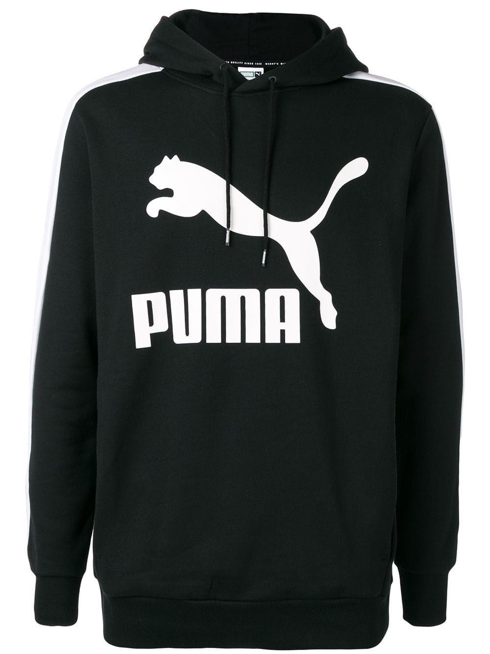 e58910feee PUMA PUMA LOGO PRINT HOODIE - BLACK. #puma #cloth | Puma | Hoodies ...