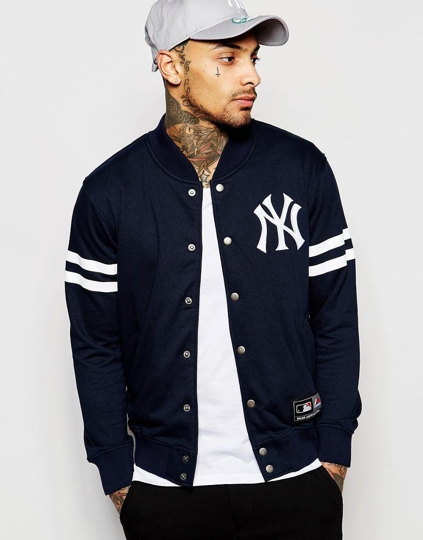 Majestic Majestic New York Yankees Varsity Jacket At Asos Varsity Jacket New York Yankees Jackets