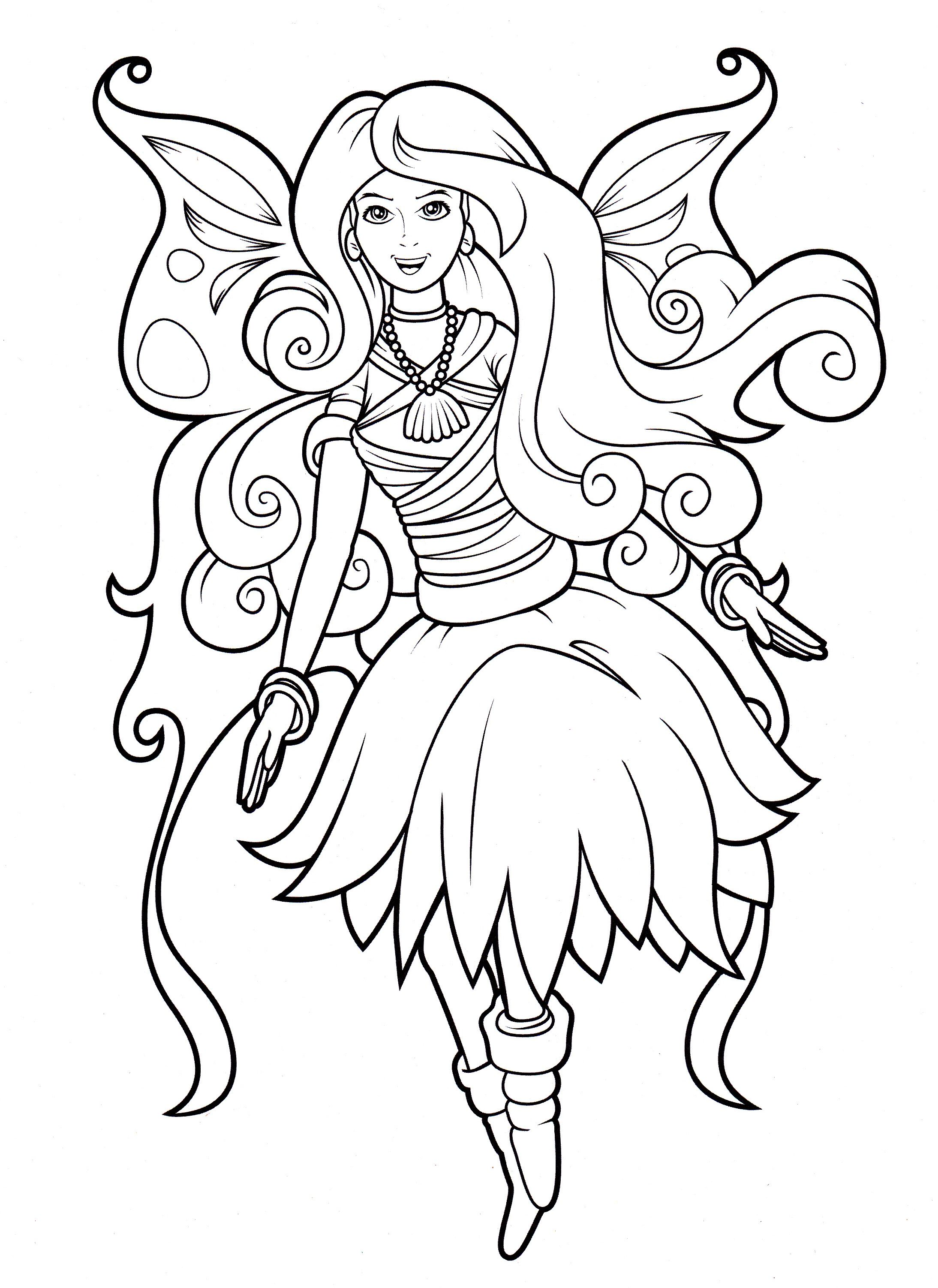 Fairy from Lilly Butterfly coloring book Cool coloring pages Coloring books Coloring pages