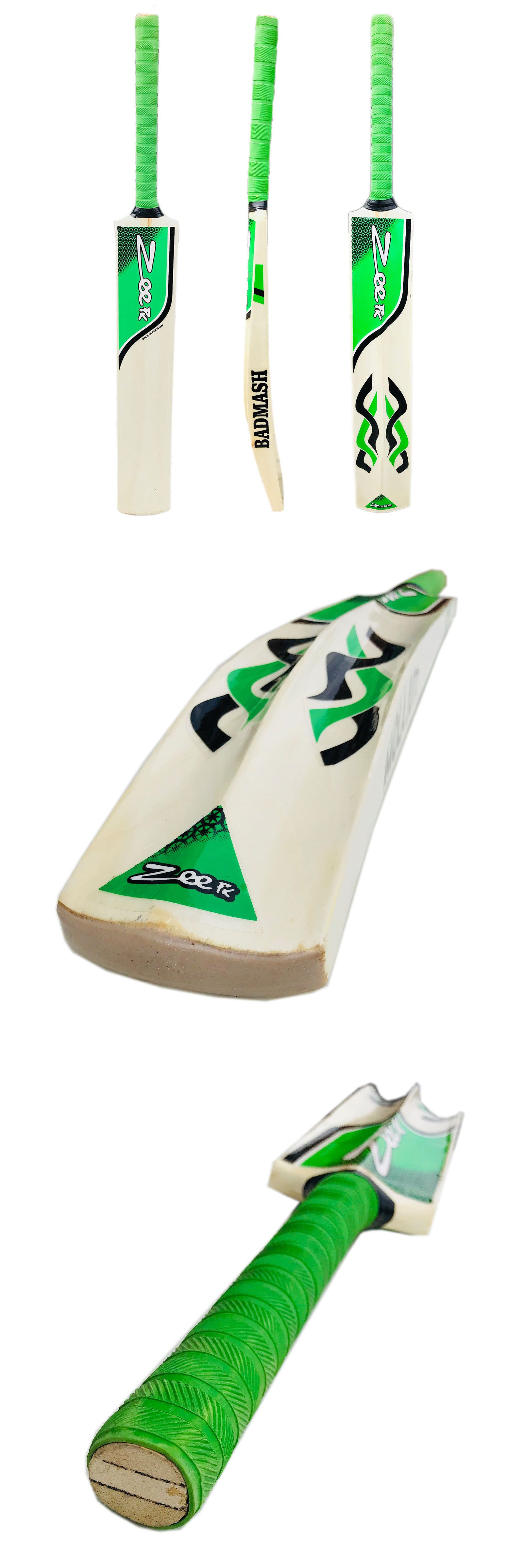 Zeepk Tennis Tape Ball Cricket Bat Full Size Hand Made Kashmir Willow Badmash Cricket Bat Soft Tennis Tennis Ball
