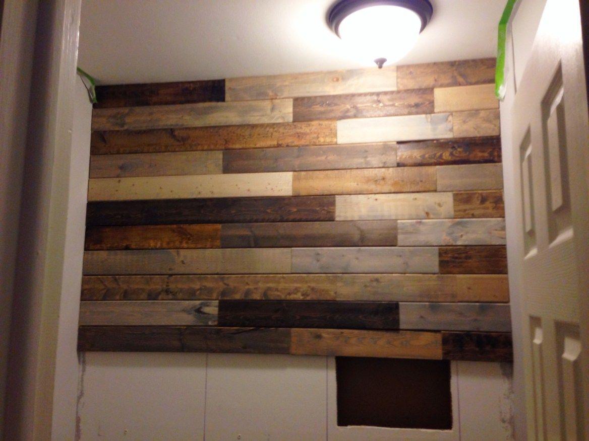 photo 5  bathroom makeover diy pallet wall pallet wall