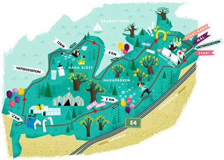 Hagaparken Stockholm Map Illustrated Map Stockholm Travel