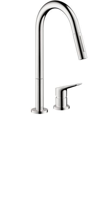 axor citterio m 2 hole kitchen faucet