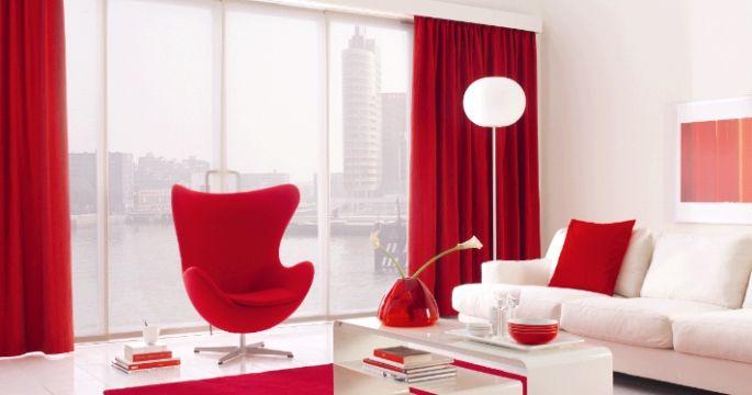 Mooie rode gordijnen | Huis | Pinterest - Oranje, Rood en Roze