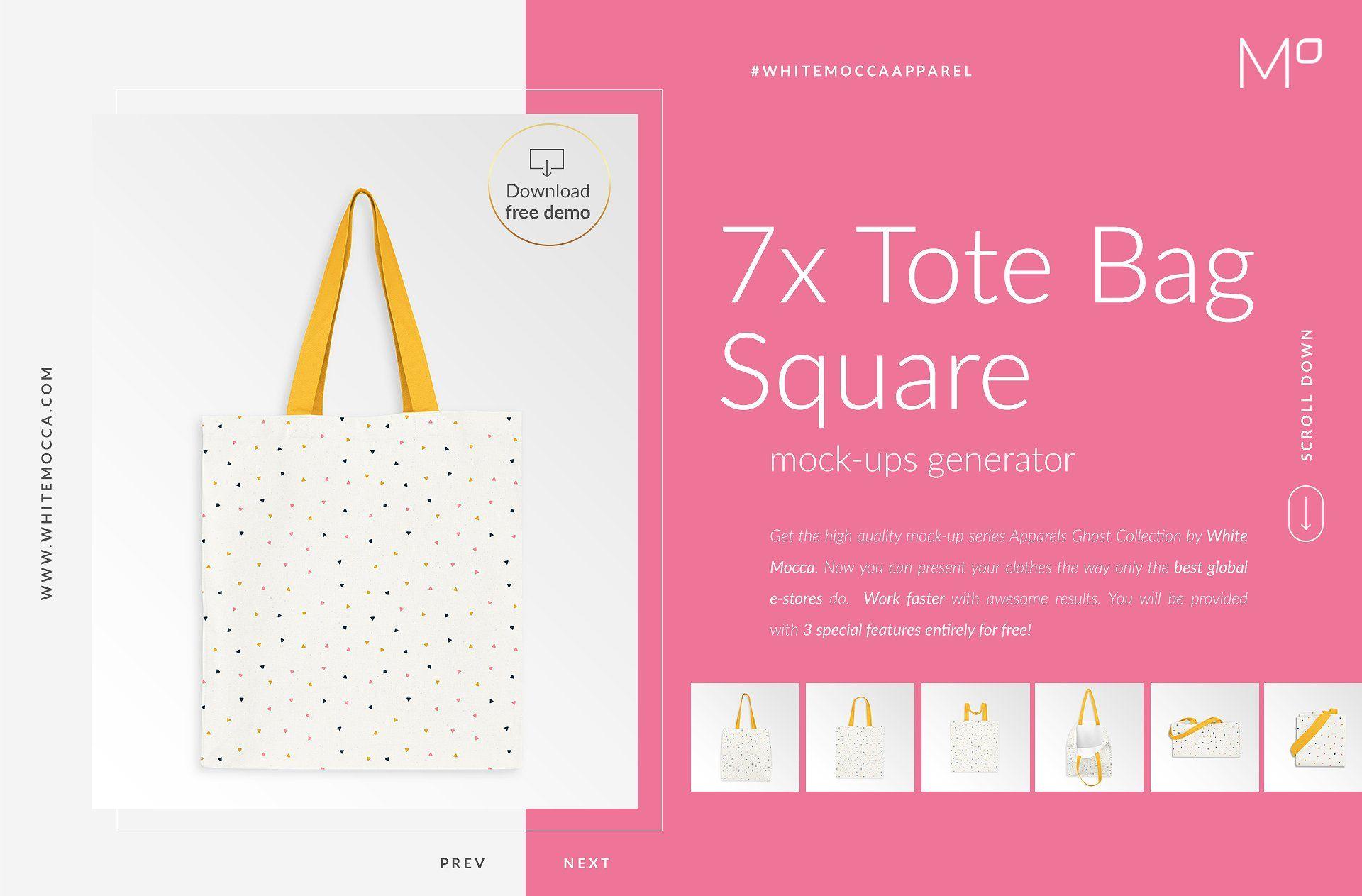 Download 7x Tote Bag Mock Ups Set Free Demo Mockup Free Psd Free Psd Mockups Templates Selling Photos