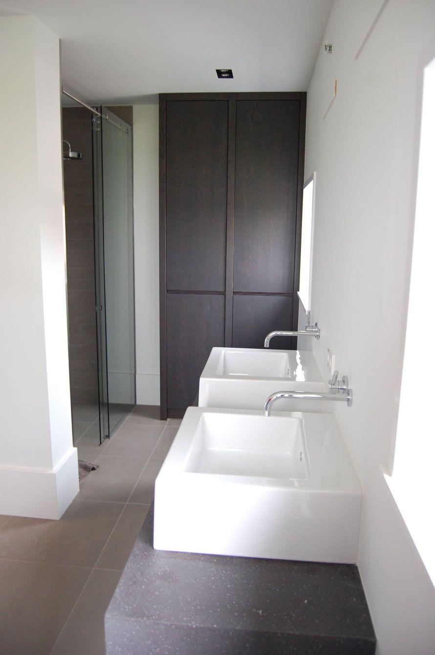 Badkamer - Aanbouw | Pinterest - Kranen, Badkamer en Muur