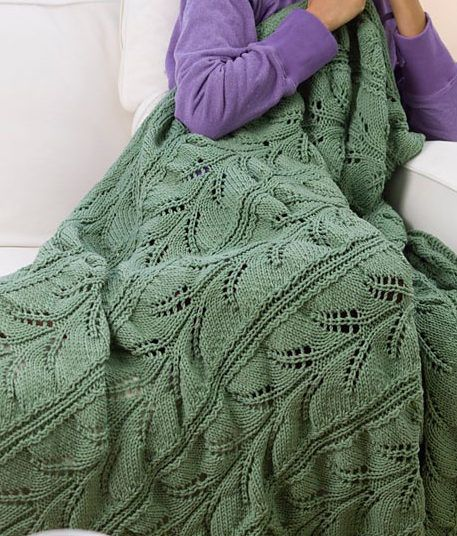 Free Knitting Pattern For Hawaiian Lacy Fern Throw Lace Afghan Worked In 3 Panels That Knit Afghan Patterns Free Knit Afghan Patterns Knitting Patterns Free