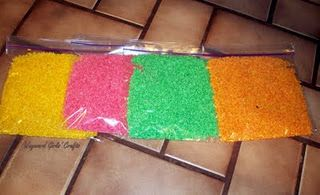 drawing with colored rice