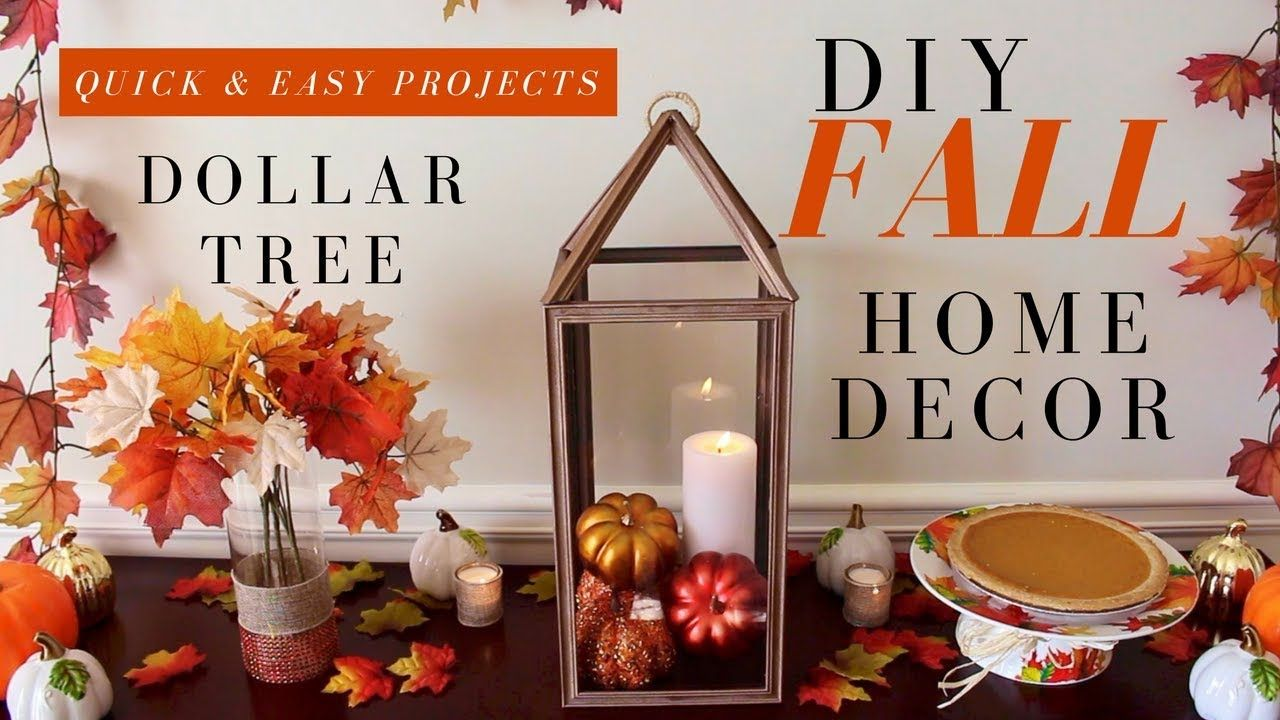 Dollar Tree Fall Decor Diy Fall Centerpieces Diy Fall