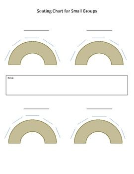 Seating Chart Template For Small Groups Horseshoe Table