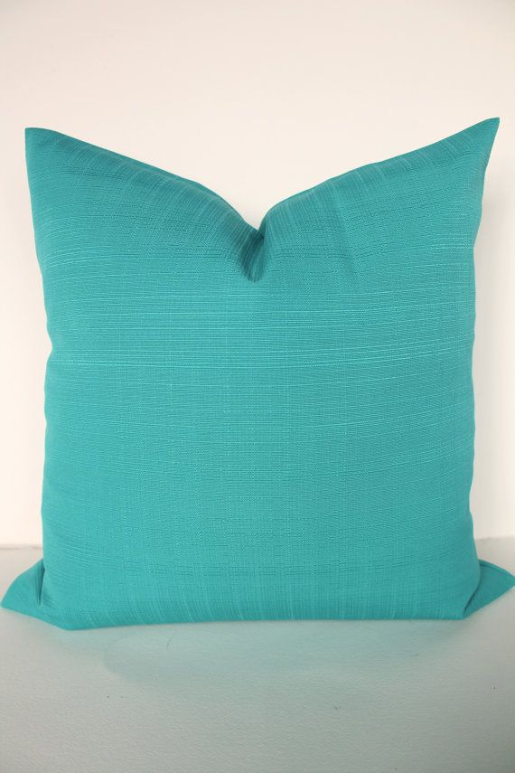 THROW Pillows 40x40 Solid TURQUOISE OUTDOOR By SayItWithPillows Magnificent Joann Fabric Pillow Inserts