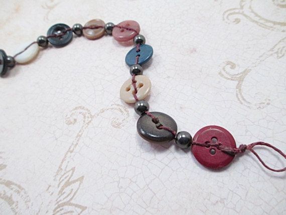 Vintage Button Bracelet Beaded Jewelry by LittleBitsOFaith on Etsy
