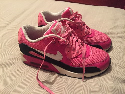34.26$  Buy here - http://vibbp.justgood.pw/vig/item.php?t=erp1zzo33388 - Womens Nike Airmax 90 Trainers Pink/White/Black Size 5.5 Great Condition