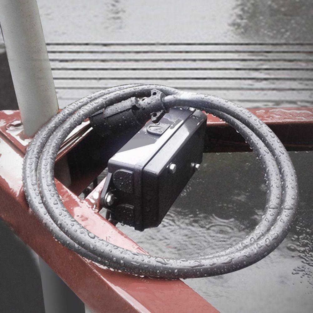 MICTUNING Heavy Duty 7 Way Plug Inline Trailer Cord with 7 Gang Junction Box 8 Feet Weatherproof
