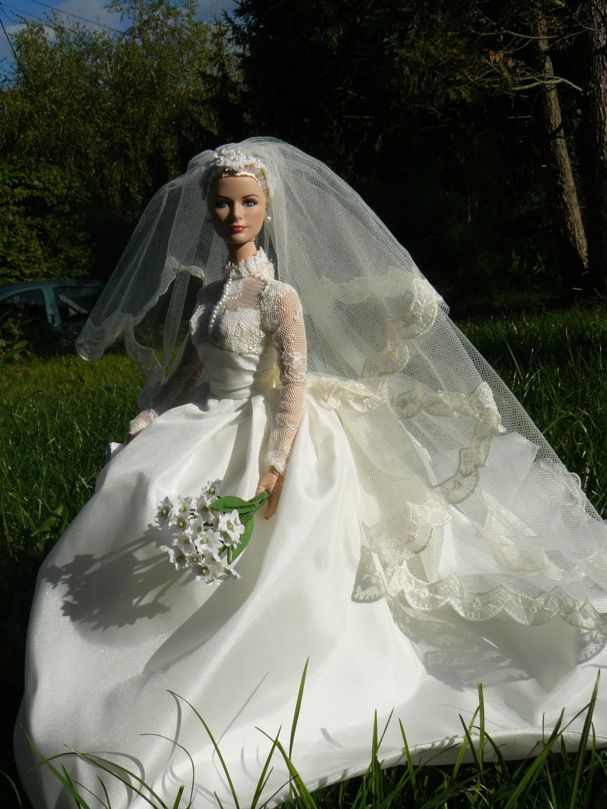 Doll wedding dress  another Grace Kelly bride Elbereth de Lioncourt Flickr