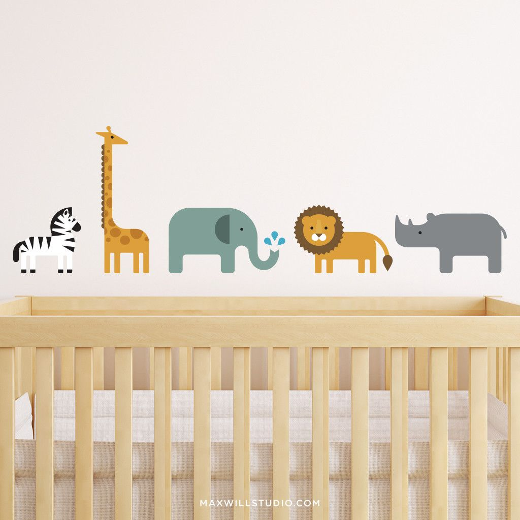 Safari Animal Wall Decals | Animal wall decals, Safari animals and ...