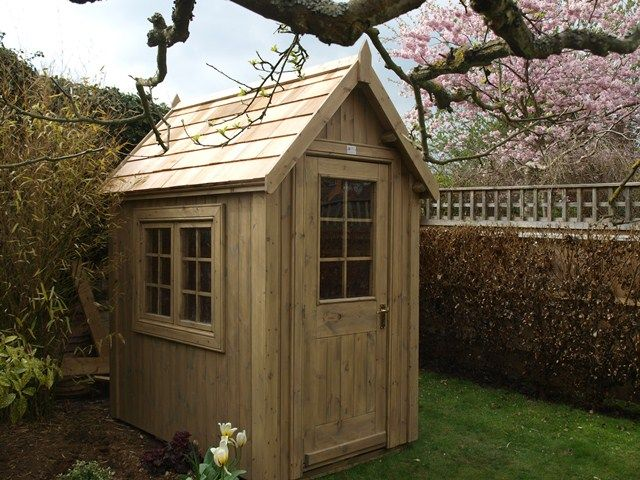 the potting shed 6ft x 4ft cedar shingle roof