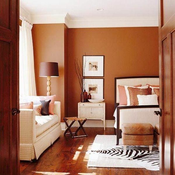 Wandfarbe Brauntöne - Wärme und Natürlichkeit wandfarben - braune wandfarbe schlafzimmer