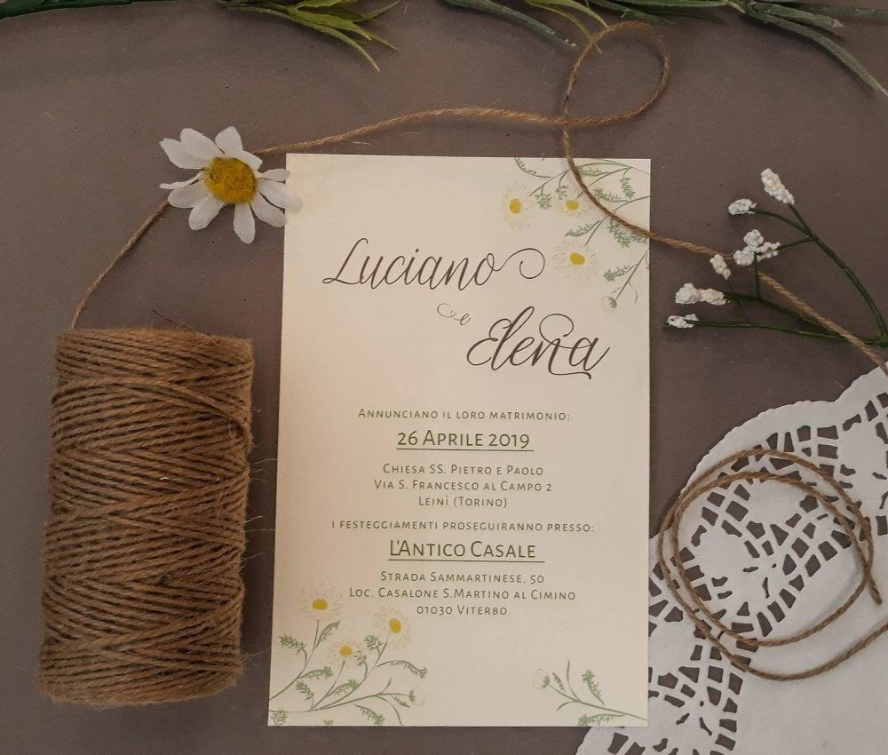 Partecipazioni Matrimonio Tema Country Chic Fiori Di Campo Margherita Camomill Partecipazione Di Matrimonio Matrimonio Personalizzato Partecipazioni Nozze