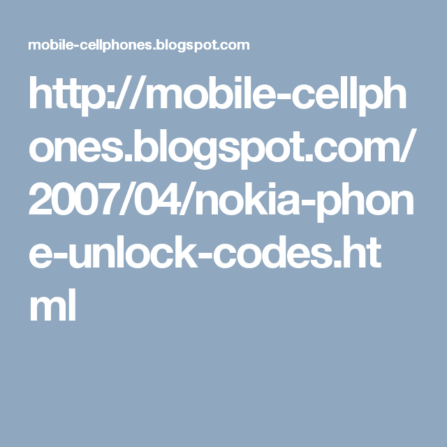 How to unlock nokia mobile from sim unlock codes for Vodafone t