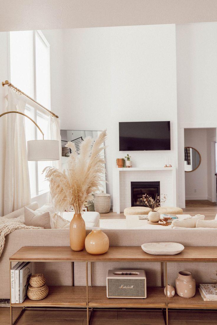 Photo of Wohnzimmer in warmen Farben | Moderne Einrichtung | Wohn Ideen