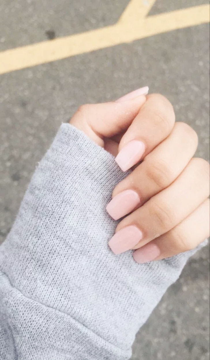 Home Blend Of Bites Neutral Nails Short Acrylic Nails Simple Nails