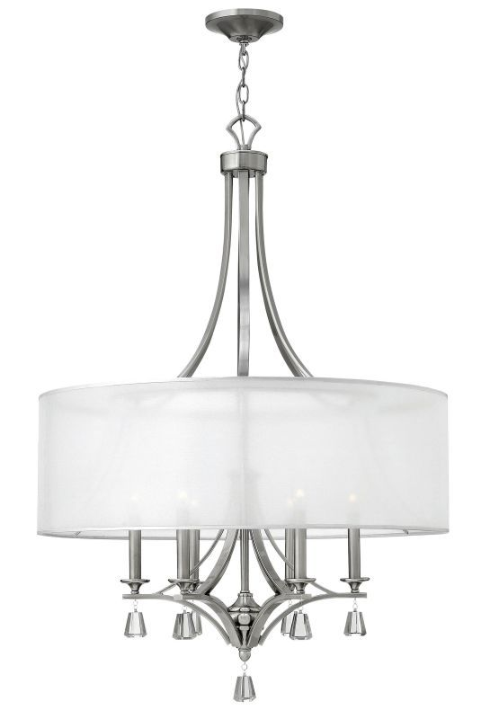 Brushed Nickel Dining Room Light Fixtures Fredrick Ramond Fr45608 6 Light 1 Tier Drum Chandelier From The