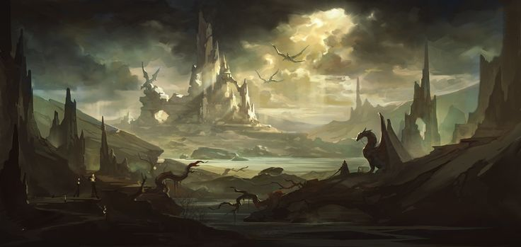 Image result for fantasy dragon landscape pinterest