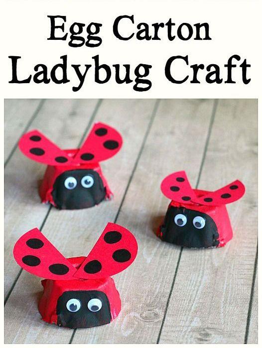 Egg Carton Ladybug Craft for Kids - Buggy and Buddy