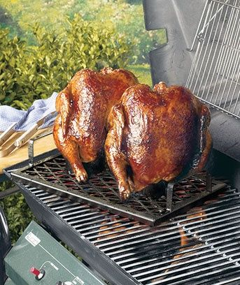 Borracho Chicken Cookers- only $7.95.  These steel racks have built-in holders for cans of beer, soda, butter and herbs, water and more. Just place the chickens over the cans to cook, and seasoning is added as they roast. . Use them on a grill  or in the oven. Cooking time is 1-1/2 to 2 hours. Dishwasher safe. #beer #brewbeer #homemadebeer #ilovebeer #howtomakebeer