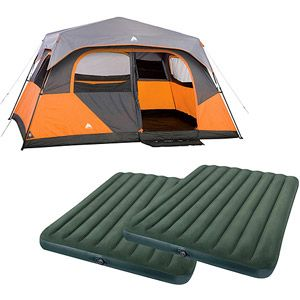 Ozark Trail 8-Person Instant Cabin Tent with Two Queen Airbeds Value Bundle for Francis  sc 1 st  Pinterest & Ozark Trail 8-Person Instant Cabin Tent with Two Queen Airbeds Value ...