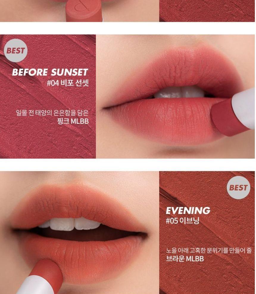 Romand Zero Matte Lipstick New 20 Colors Yesstyle In 2021 Lipstick Matte Lipstick Natural Lip Colors