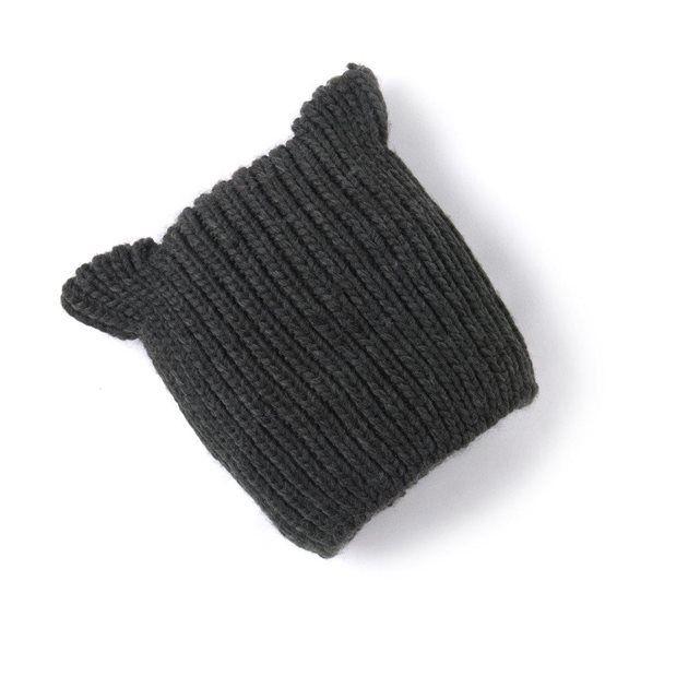 Bonnet à oreilles maille tricot R baby    Project Life is strange ... 43b517c2e2b